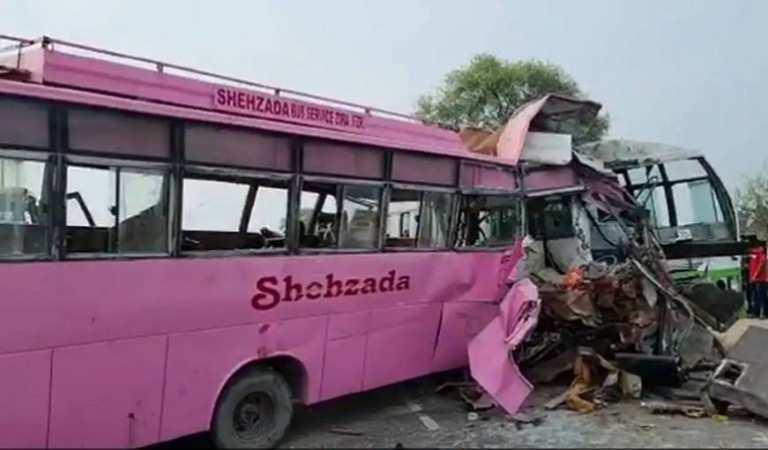 Punjab के मोगा जिले में दो बसों की टक्कर, कांग्रेस के तीन कार्यकर्ताओं की मौत